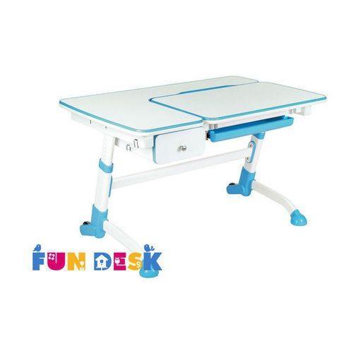 Amare Blue with Drawer - Ergonomiczne, regulowane biurko dziecięce z szufladą FunDesk, FD-AMARE-DRAWER-BLUE
