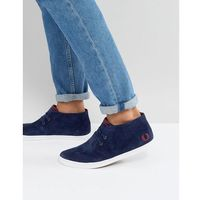 Fred Perry Byron Mid Suede Trainers in Blue - Blue, kolor niebieski