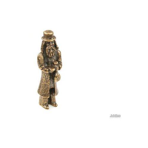 FIGURKA ŻYD Z SAKIEWKĄ talizmany retro kolor stare złoto artystyczne, aj946