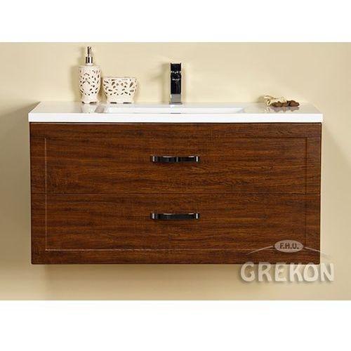 Szafka łazienkowa wisząca z umywalką 100/46/2 seria meiva d marki Gante
