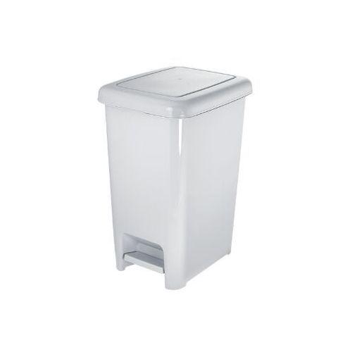 Kosz na śmieci 25 l z pedałem - biały marki Linea