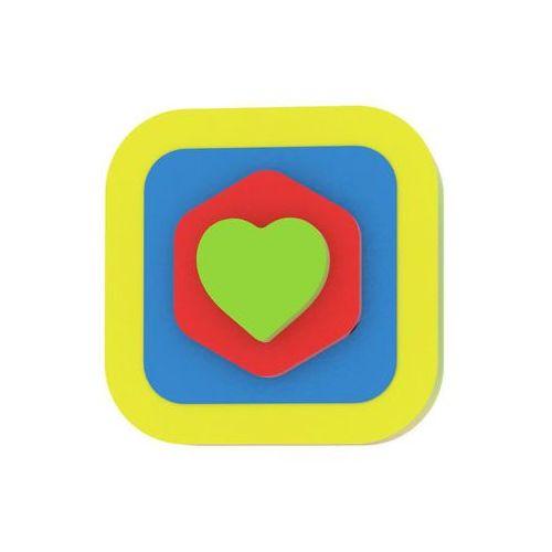 Moje první puzzle - Tvary čtverec/srdce žlutá neuveden (8595615200164)