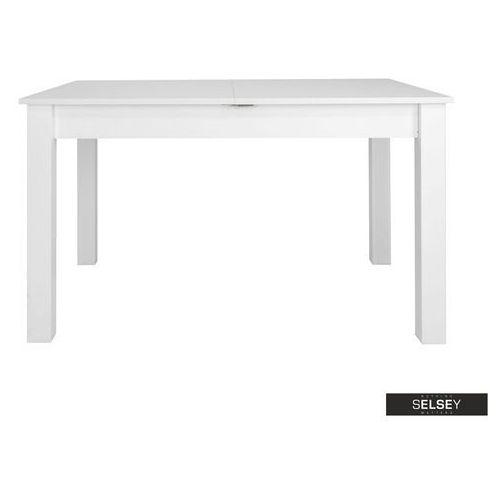 SELSEY Stół rozkładany Eagor 125-165x80 cm biel alpejska (5903025385518)