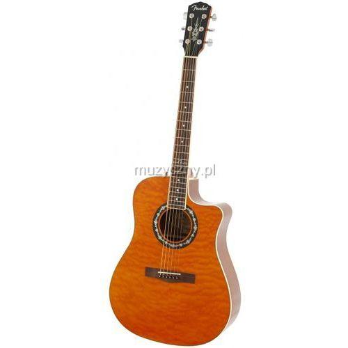 Fender  t-bucket 300 ce rw amber quilt gitara elektroakustyczna