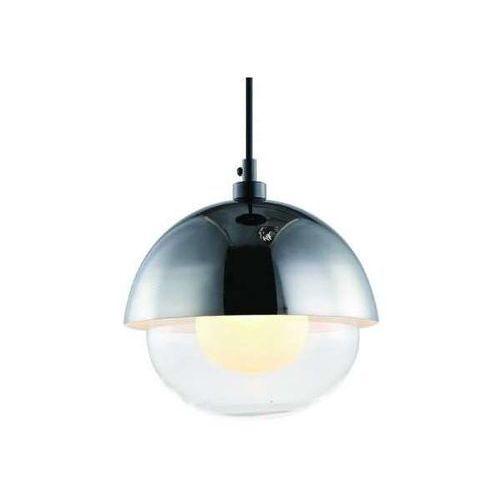 Loftowa LAMPA wisząca VISO CROMO Orlicki Design okrągła OPRAWA szklany ZWIS kopuła chrom przezroczysta
