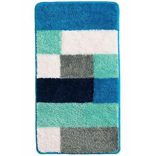 Dywaniki łazienkowe w kolorowy wzór niebieskozielony morski marki Bonprix