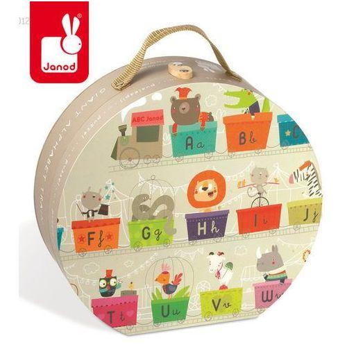 Puzzle w walizce alfabet pociąg 27 elementów - marki Janod