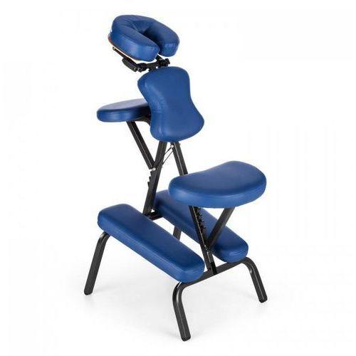Klarfit Ms 300 fotel do masażu/tatuowania, obciążenie 120 kg torba transportowa kolor niebieski