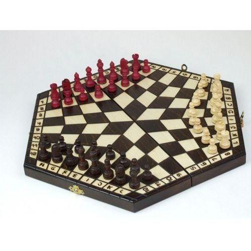 Abino Szachy 3-osobowe drewniane (5907438272533)