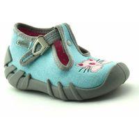 Kapcie dla dzieci Befado 110P375 Speedy - Niebieski Jasny, kolor niebieski