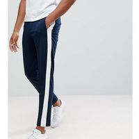 Selected Homme Tapered Trousers With Stripe - Navy, kolor szary