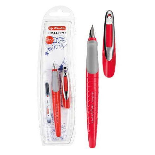 Pióro wieczne my.pen, czerwono-szare. HERLITZ - czerwono-szary (2501234500123)