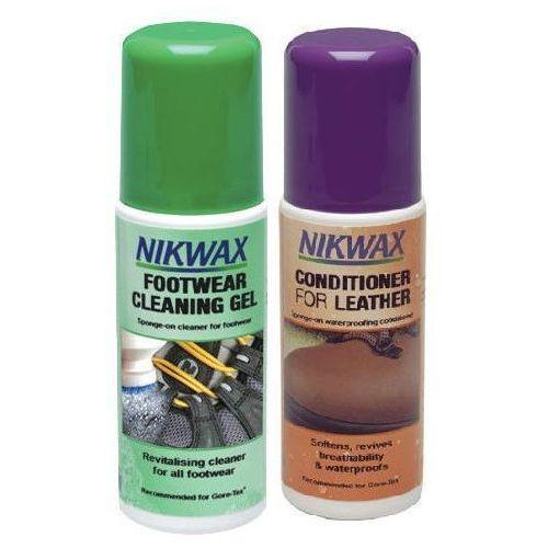 Zestaw footwear cleaning gel + conditioner for leather 2x125ml marki Nikwax