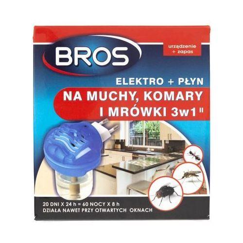 40ml urządzenie elektro + płyn na muchy komary i muchy marki Bros