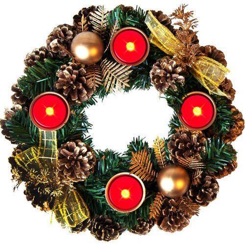 STROIK ŚWIĄTECZNY 4 x ŚWIECA LED OZDOBA ŚWIĄTECZNA z kategorii Ozdoby świąteczne
