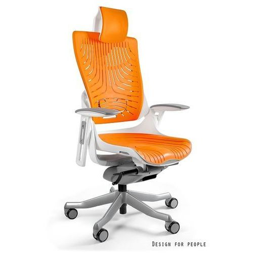 Fotel ergonomiczny biały WAU 2 Elastomer - Mango- ZADZWOŃ 692 474 000 - OTRZYMASZ RABAT 150 zł!