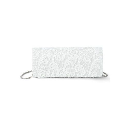 Kopertówka koronkowa bonprix kremowo-biały, kolor biały