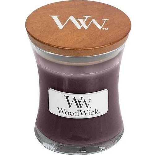 Świeca Core WoodWick Black Plum Cognac mała, 98023E