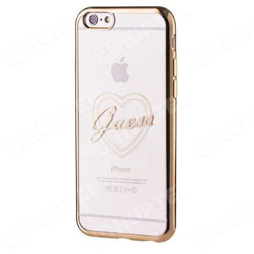GUESS GUHCP6LTRHG oryginalne etui heart signature iPhone 6S Plus 6 Plus złote