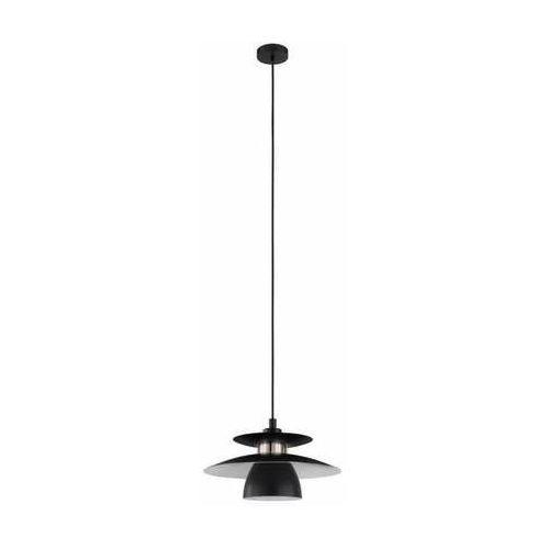 Eglo Brenda 98735 lampa wisząca zwis 1x40W E27 czarna/nikiel