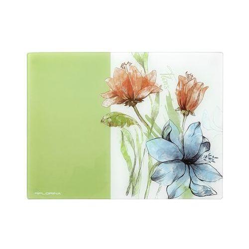 Florentyna Deska kuchenna szklana floris duża 30x40x0,4cm