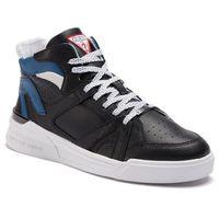Sneakersy GUESS - Madison FM6MAD LEA12 BLACK, w 6 rozmiarach