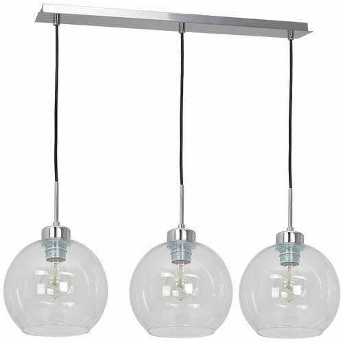fill 1740 lampa wisząca zwis 3x60w e27 srebrna/transparentna marki Luminex