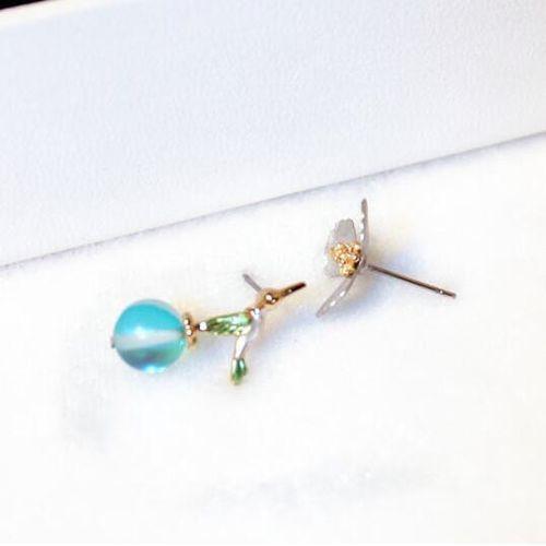 EXCLUSIVE Kolczyki pyłek niebieskie - NIEBIESKIE, kolor niebieski