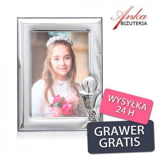 Valenti & co Ankabizuteria.pl ramka srebrna do zdjęcia życzenia - prezent komunię świętą