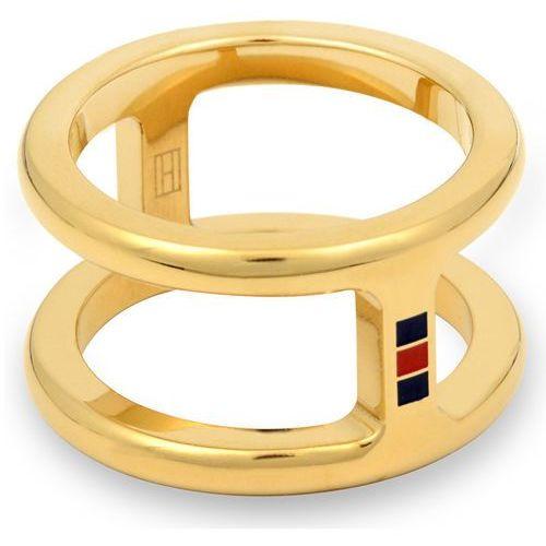 Tommy Hilfiger Oryginalny pierścień stalowy TH2700522 (obwód 56 mm), kolor szary