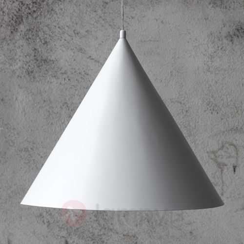 Markslöjd Bas 105286 lampa wisząca fi 50 stożek biała markslojd