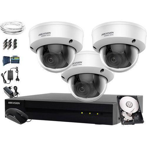 Kamery do monitoringu sklepu domu firmy hwd-7104mh-g2, 3 x hwt-d340-vf, 1tb, akcesoria marki Hikvision hiwatch