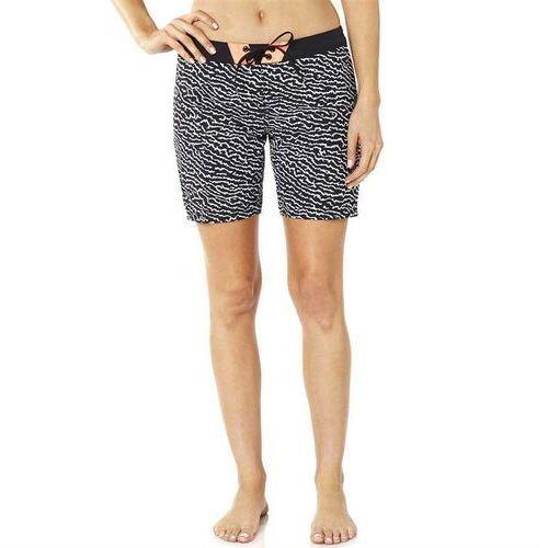 strój kąpielowy FOX - Chargin Boardshort Black/White (018) rozmiar: 4, kolor biały