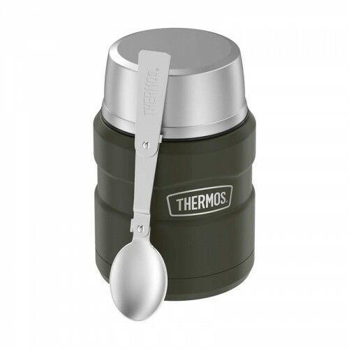 ® - termos obiadowy ze składaną łyżką - zieleń wojskowa army green marki Thermos