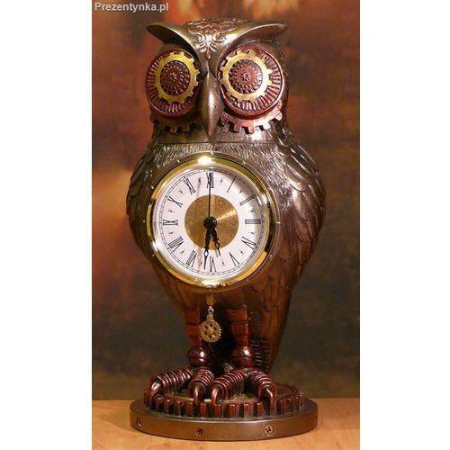 Sowa z zegarem steampunk marki Veronese