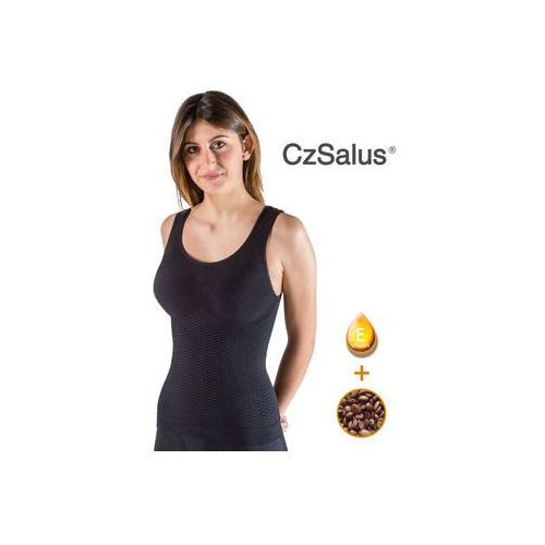 Bye cellulite damska koszulka przeciwcellulitowa i odchudzajaca z nanosrebrem oraz z mikrokapsułkami z kofeiną i witaminą e - beautysan marki Czsalus (włochy)
