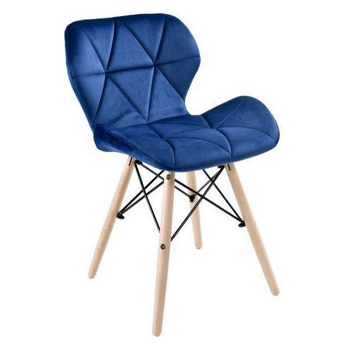 Krzesło Muret Granatowe Velvet