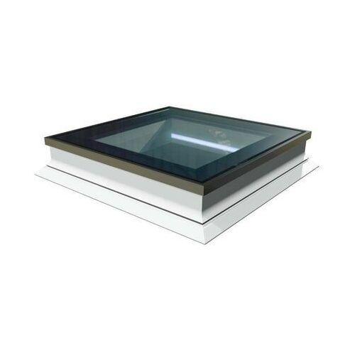 Okno do dachów płaskich OKPOL PGX A1 PVC 80x80 nieotwierane z oświetleniem LED