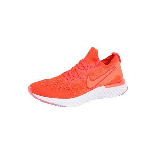 buty do biegania 'epic react flyknit 2' ognisto-czerwony / biały marki Nike
