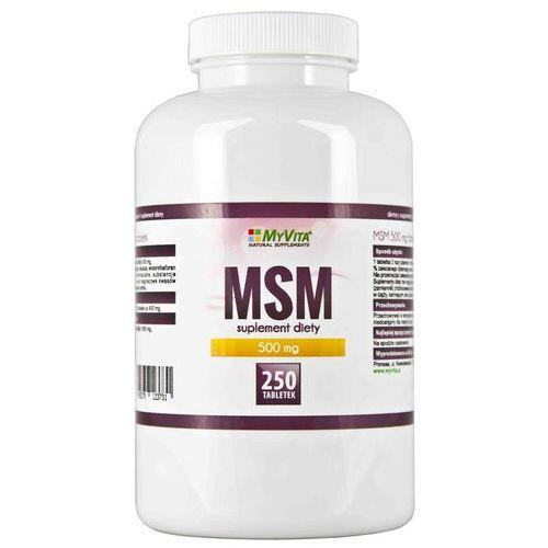 Tabletki MSM METYLOSULFONYLOMETAN 500 mg, 250 TABLETEK, MYVITA