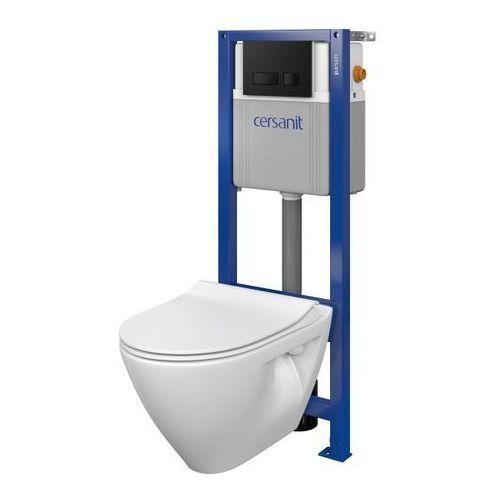 Zestaw podtynkowy WC Cersanit Mille z deską wolnoopadającą przycisk czarny, SZWZ1006126282