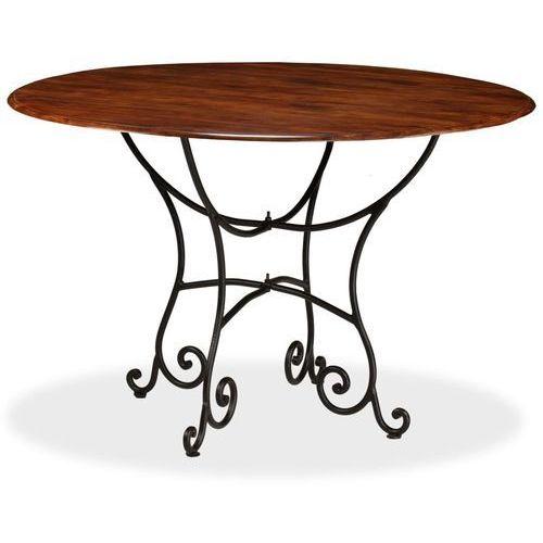 Stół jadalniany, akacja wykończona na sheesham, 120x76 cm marki Vidaxl