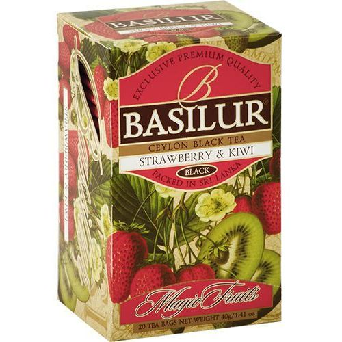 70170 20x2g truskawka i kiwi herbata czarna kopertowana od producenta Basilur