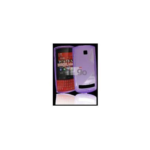 Futerał Back Case S-Line Nokia Asha 303 FIOLETOWY PRZEŹROCZYSTY