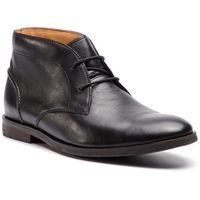 Clarks Trzewiki - glide chukka 261354307 black leather