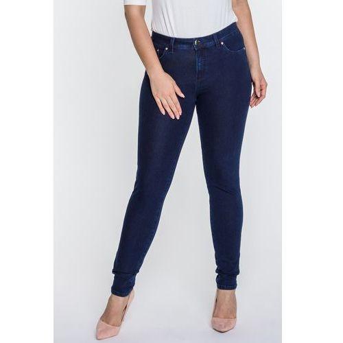 Ciemnoniebieskie, piaskowane jeansy - marki Rj rocks jeans