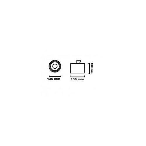 OPTIQUE ON L11 N TRIAC SP3 17.5103.D68. OPRAWA DO SZYNOPRZEWODU LED 4000K CHORS, 271 / 17.5103.D68.