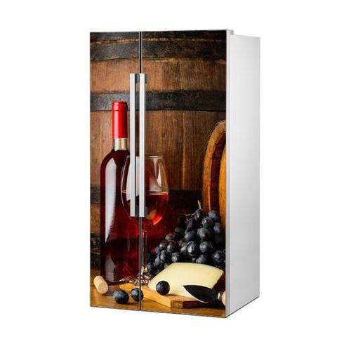 Mata magnetyczna na lodówkę side by side - Delikatne czerwone wino 0729