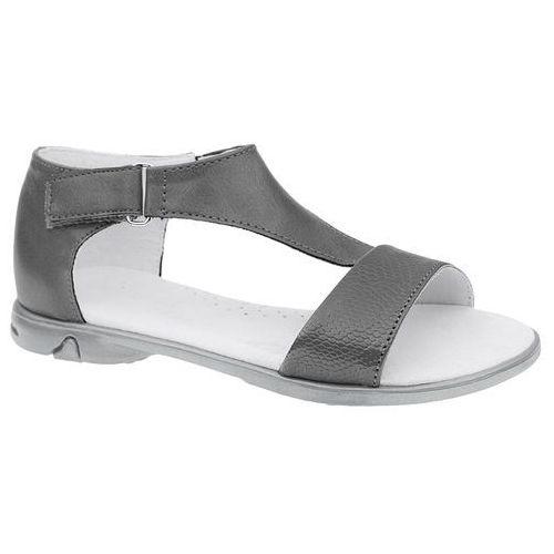 Sandałki dla dziewczynki KORNECKI 4750 - Grafitowy   Popielaty   Szary, kolor niebieski