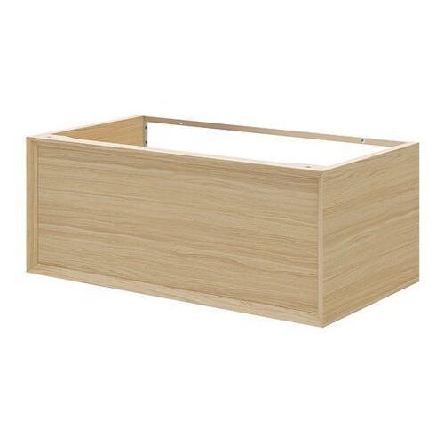 Goodhome Szafka z szufladą pod umywalkę avela 80 cm drewno (5059340017969)